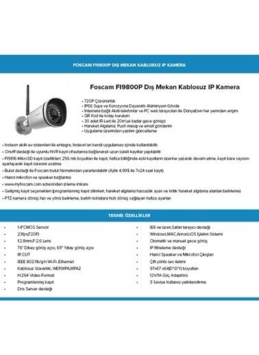 Insteon Fı9800P Dış Mekan 720P, Bulut Desteği, Çift Yönlü Ses İletimi, Gece Görüşü, Kablosuz Ip Kamera Renkli